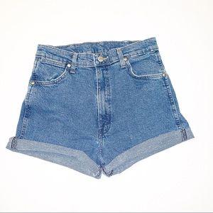 Vintage Wrangler High Waisted Mom Jeans Shorts